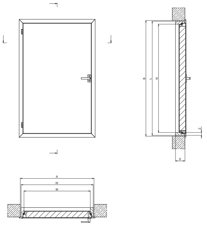 Wymiary drzwi kolankowych DWK
