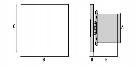 Wentylator Black&White wymiary