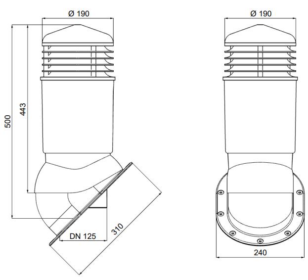 Wymiary kominka wentylacyjnego izolowanego